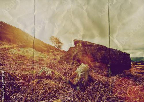 paper rock landscape