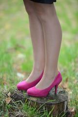 Pinke High Heels