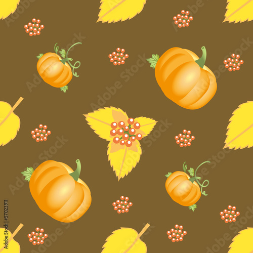 Seamless autumn vegetable pattern