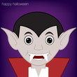 Vampire Halloween card in vector format.