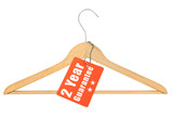 coat hanger with guarantee tag