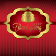 Turkey elegant Thanksgiving card in vector format.