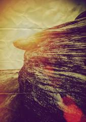 paper rocky terrain