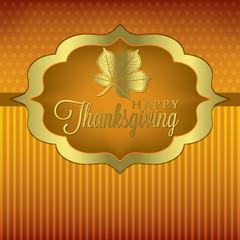Leaf elegant Thanksgiving card in vector format.