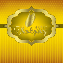Corn elegant Thanksgiving card in vector format.