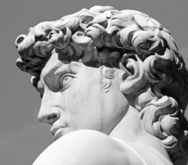 head of David sculpture by  Michelangelo, Florence, Tuscany