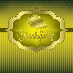 Leaf elegant Thanksgiving card in vector format.