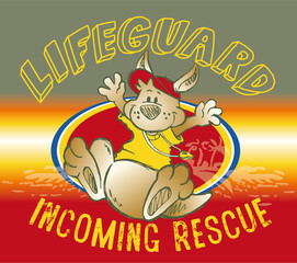 kangaroo lifeguard
