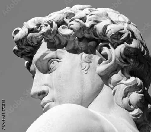 head of David sculpture by  Michelangelo, Florence, Tuscany - 57025318