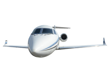 Business jet isolated on white