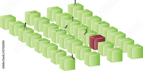 green and red blocks
