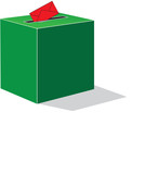 green voting box