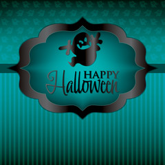 Ghost Halloween card in vector format.