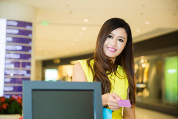woman Paying credit card for purchases