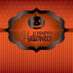 Pumpkin Halloween card in vector format.