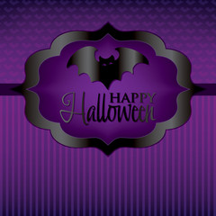 Bat Halloween card in vector format.