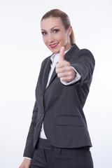Geschäftsfrau Daumen hoch