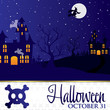 Halloween card in vector format.