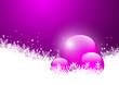 Hintergrund, Eisblumen, Schneeflocke, Kugeln, Design, Violett