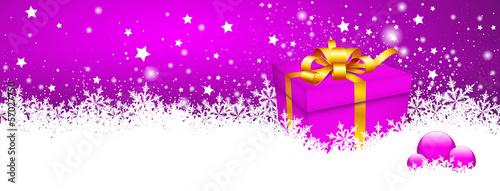 Hintergrund, Panorama, Geschenkpaket, Weihnachten, Eisblumen