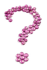 pink question mark