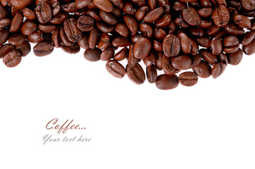 Coffee grain isolated on white background