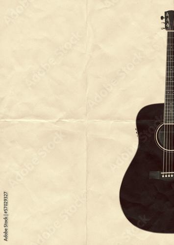 black guitar paper