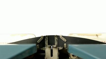close up typewriter type blank sign on white paper