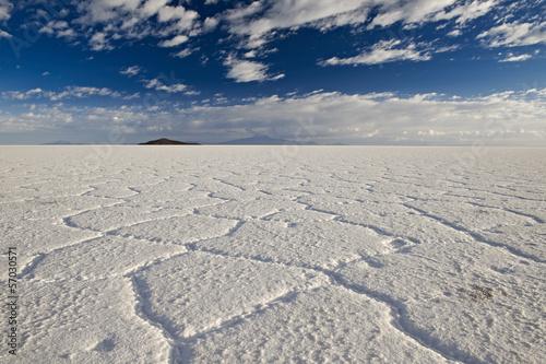 canvas print picture Salar de Uyuni, groesster Salzsee der Welt, Bolivien