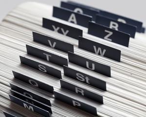 Alphabetisches Register, Kartei
