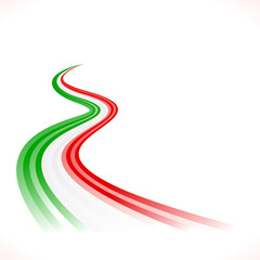 Abstract waving Italian, Mexican, Hungarian and Iranian flag