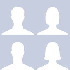 Set of people profile pictures