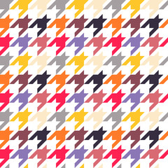 Houndstooth seamless pattern, colorful
