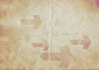 brown paper arrows
