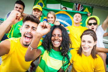 Brasilian Supporters at Stadium