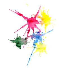 Multi-colored blots