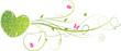 Valentine's green heart with floral swirls