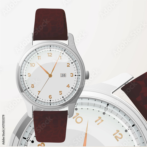 Elegance watch. Vector.