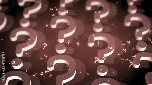 Question Marks Classic Colors Looping Animated Background