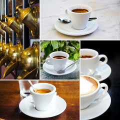 Set of espresso and cappuccino cups