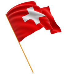 3D Swiss flag (clipping path included)
