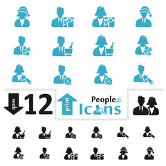 Vector people icon set for web and print part six