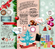 2014 Christmas Vintage typograph design elements: