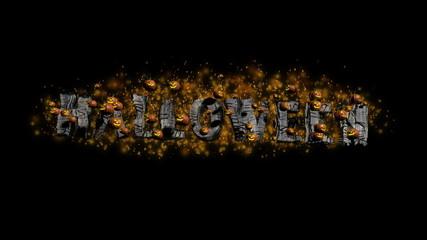 Halloween Title with Pumpkins