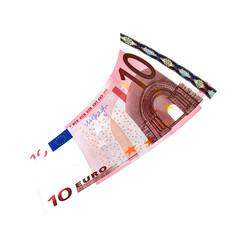 10 Euroschein fliegt