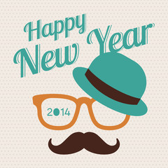 New Year hipster