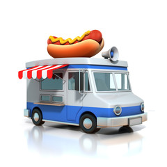 hot dog fast food car