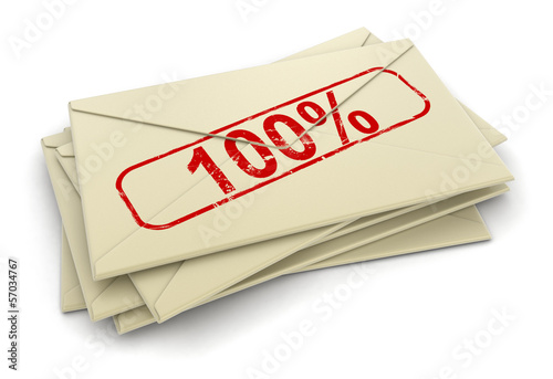 100% letters  (clipping path included)