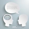 Two Head Speech Bubble Question Marks