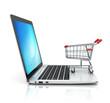 online shopping 3d concept